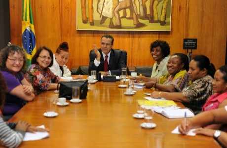 Reunião na Presidência da Câmara Federal sobre o projeto do empregado doméstico (Foto: Ag. Câmara)