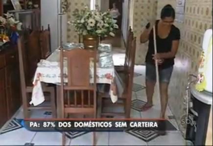 Reportagem do SBT abordou questão da empregada doméstica