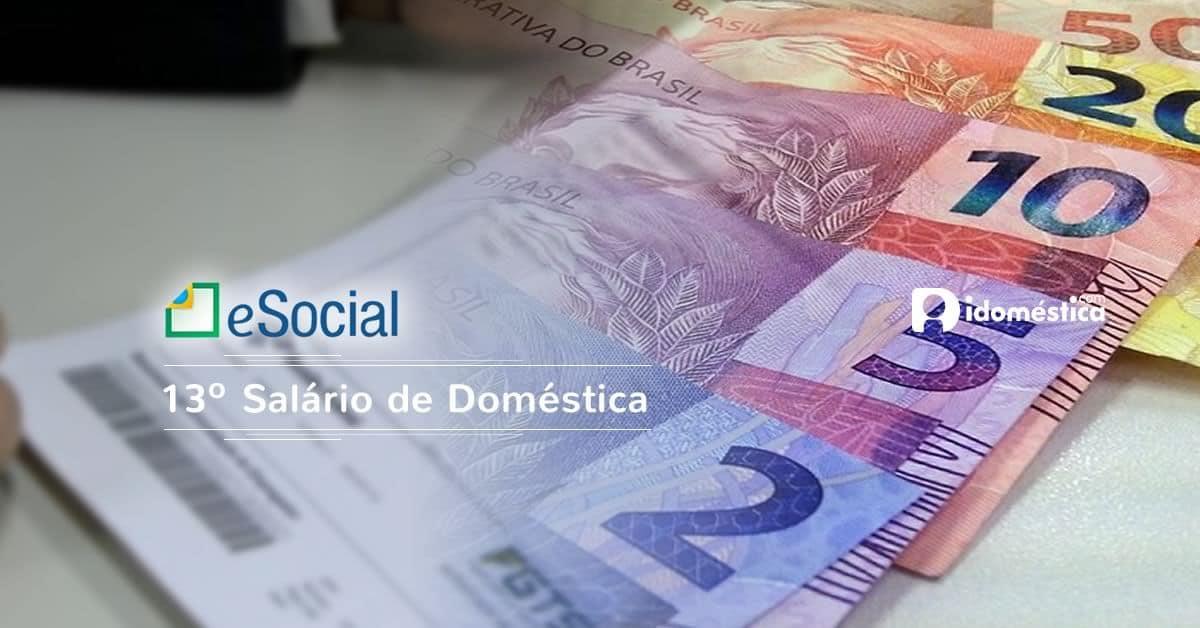 eSocial - 13º salário de empregada doméstica