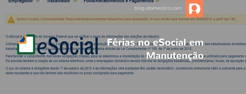 De acordo com o site do esocial, o processo deverá se normalizar ainda hoje (28/06) às 18h00.