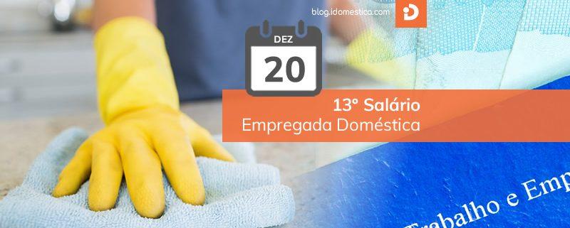 Segunda parcela do 13º salário de empregada doméstica