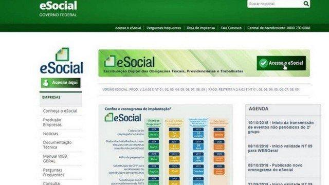 eSocial Doméstico fica fora do ar nesta segunda e atrasa pagamento da guia do eSocial de Dezembro