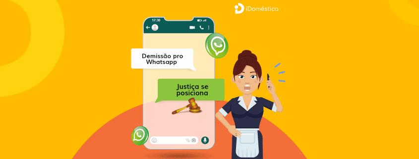 A demissão da empregada doméstica por whatsapp foi validada no brasil